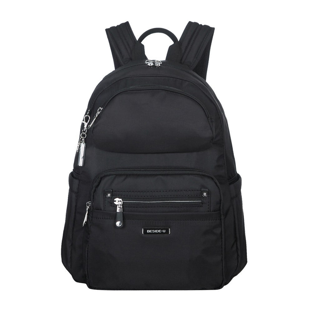 Backpack - Arroyo Leather Trimmed City Backpack Front [Black]