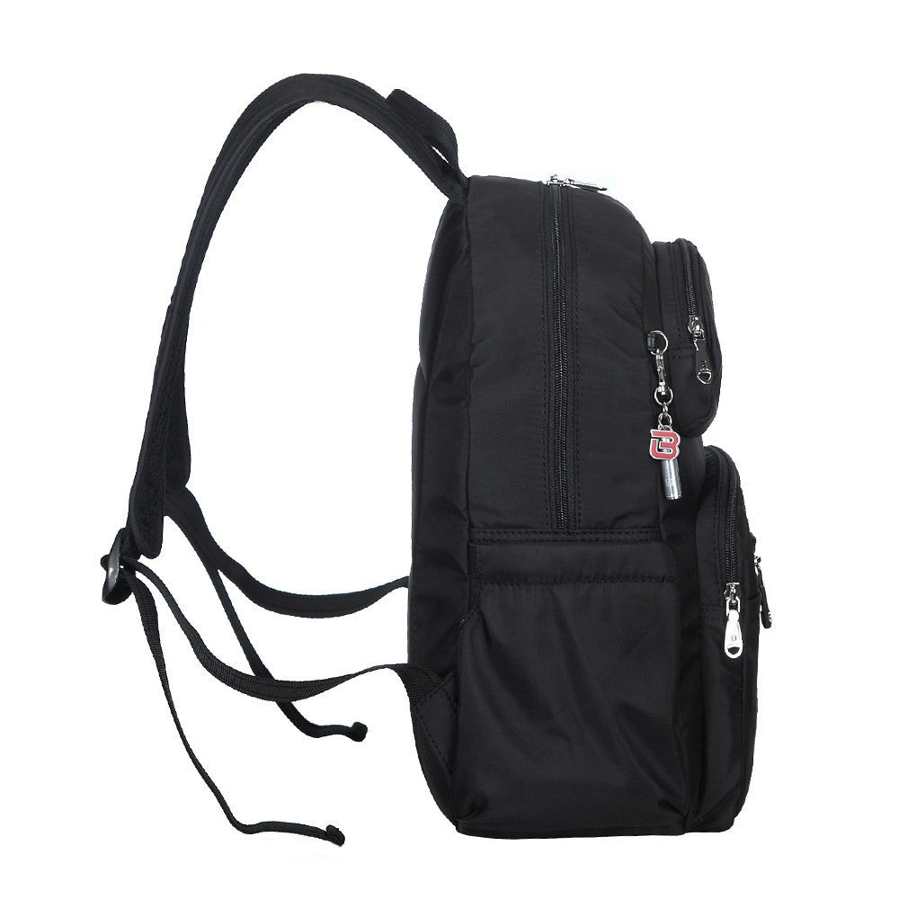Backpack - Arroyo Leather Trimmed City Backpack Side [Black]