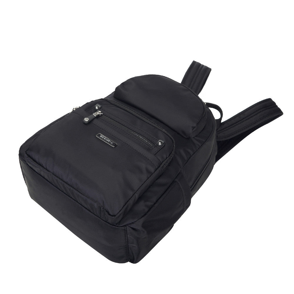 Backpack - Arroyo Leather Trimmed City Backpack Lying Down [Black]