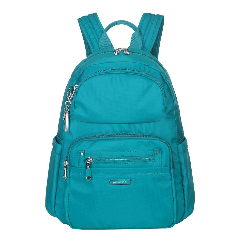 Backpack - Arroyo Leather Trimmed City Backpack Front [Ocean Blue]