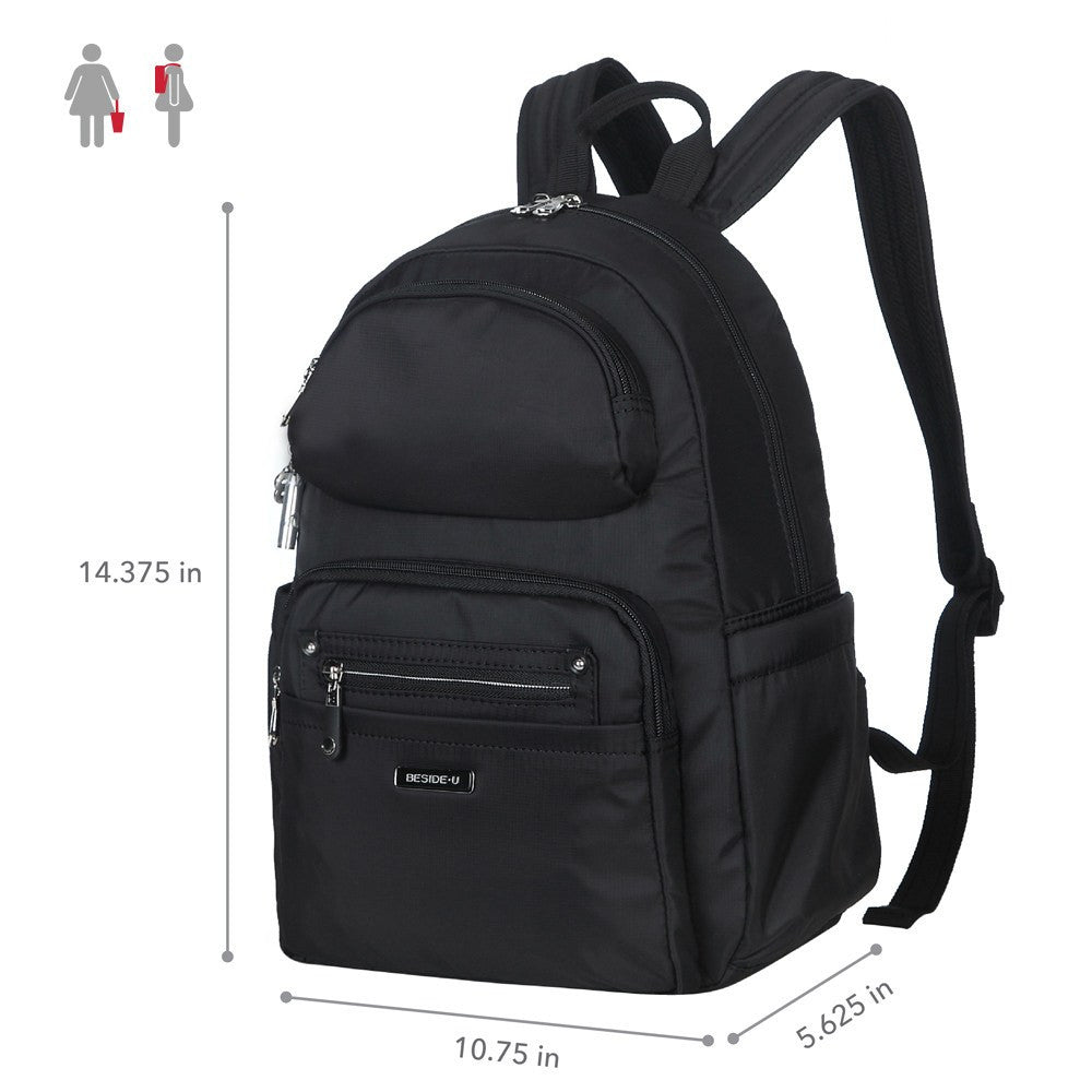 Backpack - Arroyo Leather Trimmed City Backpack Size [Black]