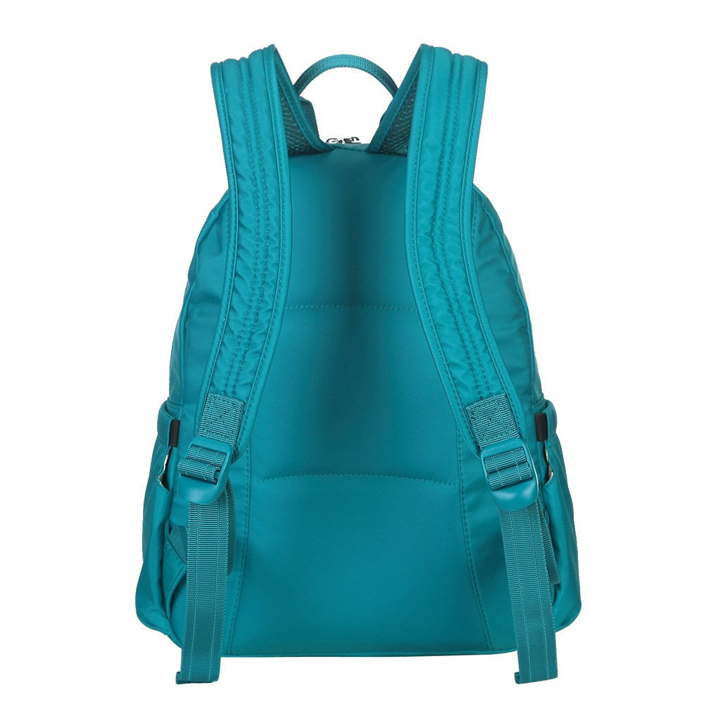 Backpack - Arroyo Leather Trimmed City Backpack Back [Ocean Blue]