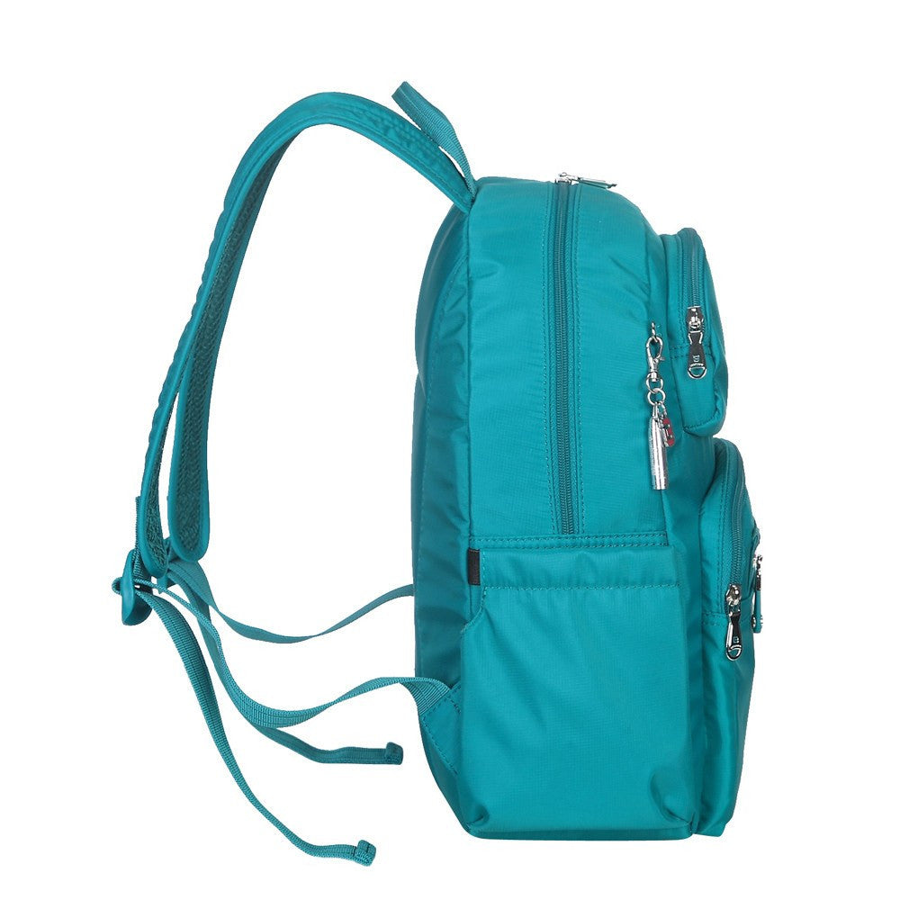 Backpack - Arroyo Leather Trimmed City Backpack Side [Ocean Blue]