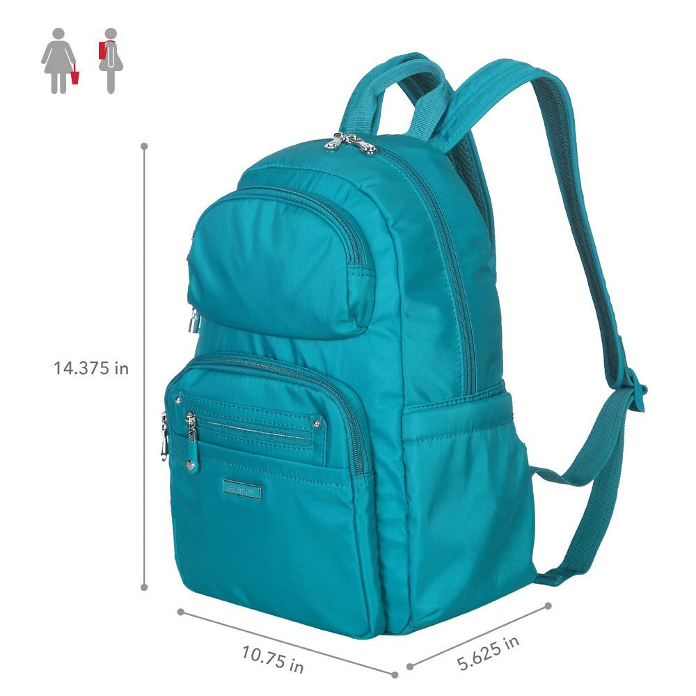 Backpack - Arroyo Leather Trimmed City Backpack Size [Ocean Blue]
