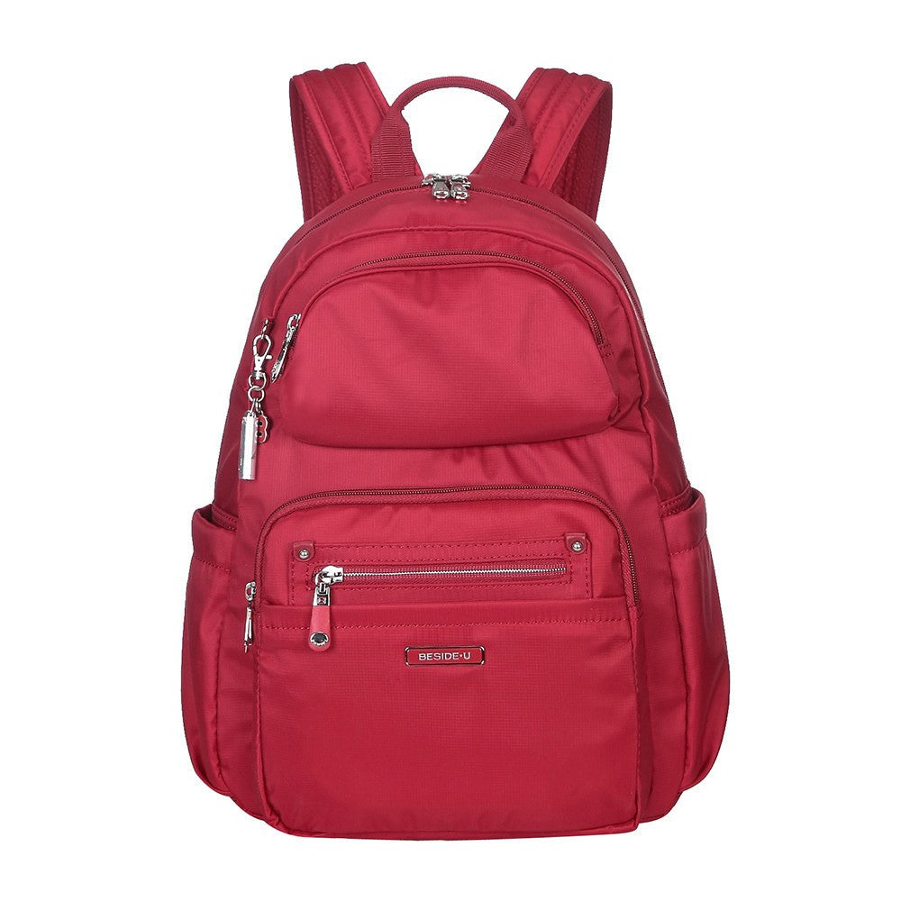 Backpack - Arroyo Leather Trimmed City Backpack Front [Jester Red]