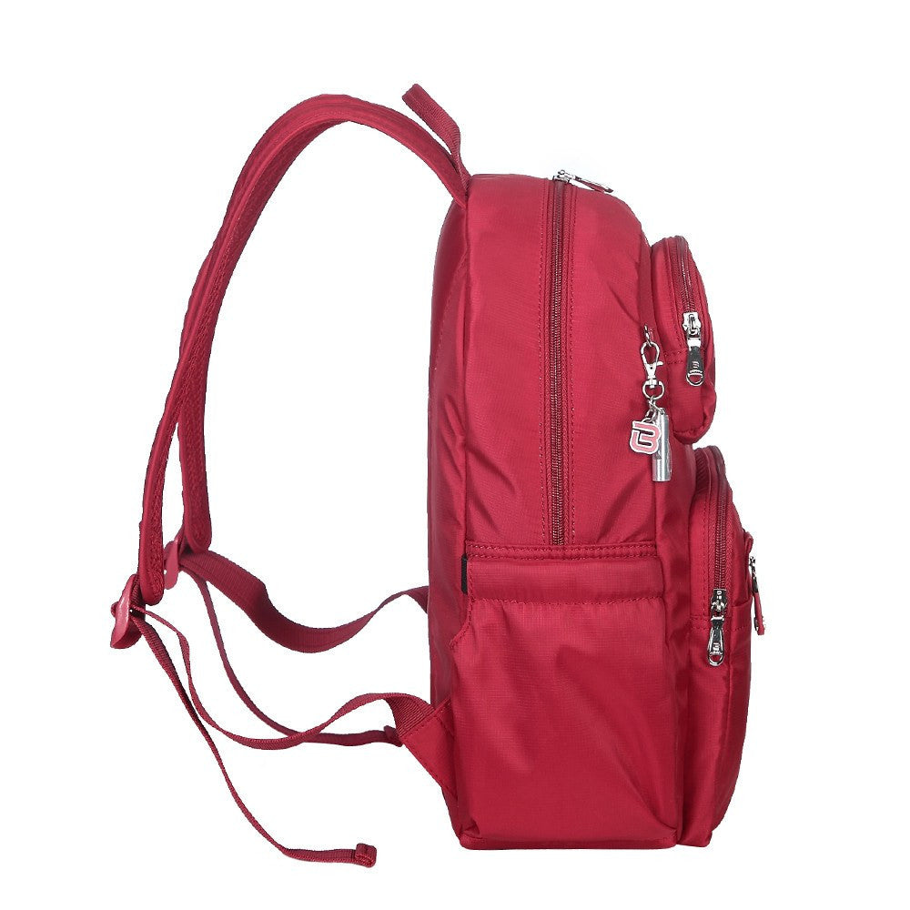 Backpack - Arroyo Leather Trimmed City Backpack Side [Jester Red]