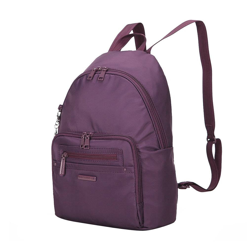 Backpack - Belmont RFID Pocket City Backpack Angled [Wineberry Purple]
