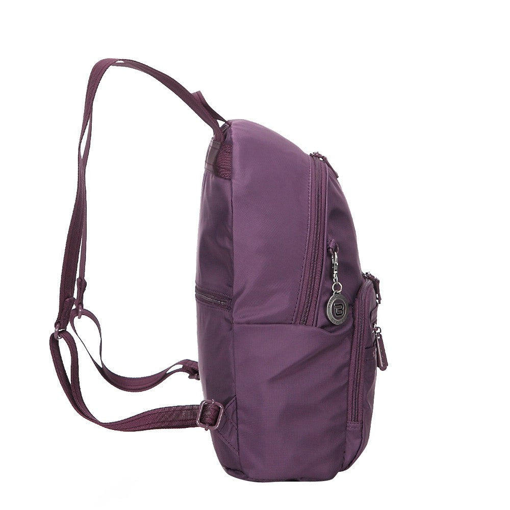 Backpack - Belmont RFID Pocket City Backpack Side [Wineberry Purple]