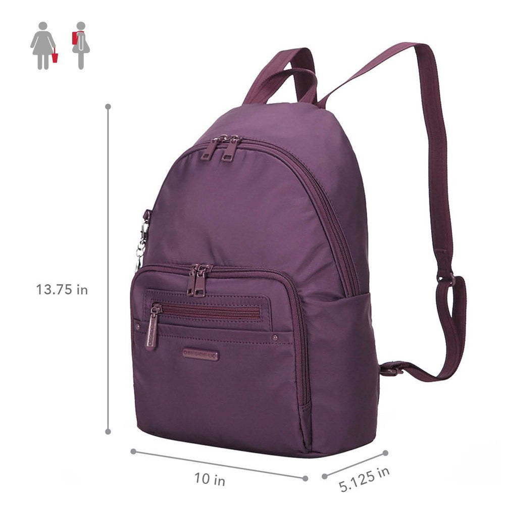 Backpack - Belmont RFID Pocket City Backpack Size [Wineberry Purple]