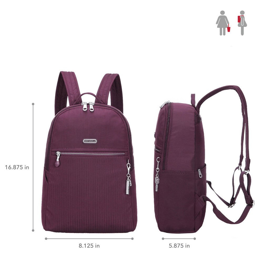 Backpack - Camilla Debossed Travel Backpack Size [Blackberry Wine]