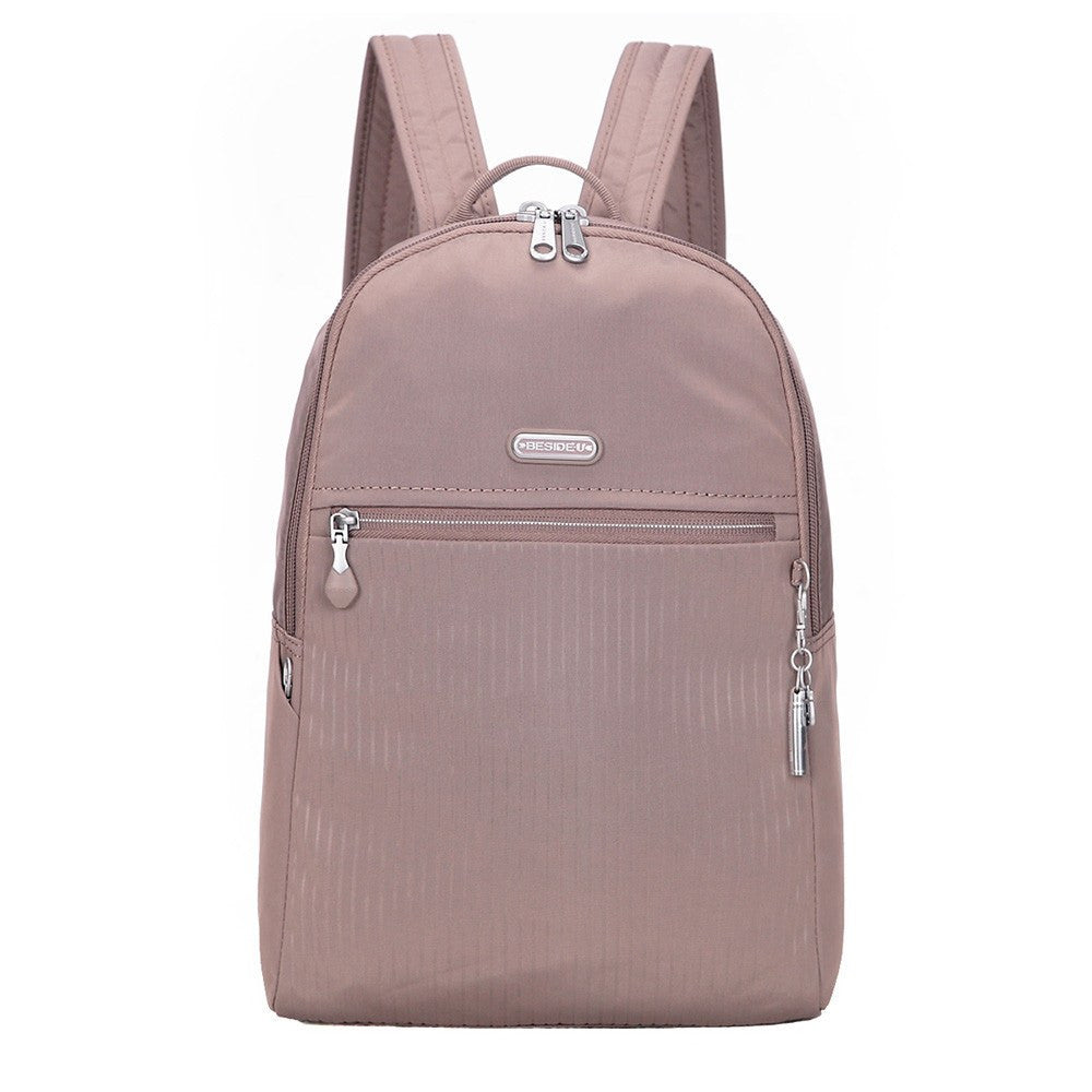 Backpack - Camilla Debossed Travel Backpack Front [Zinc Grey]