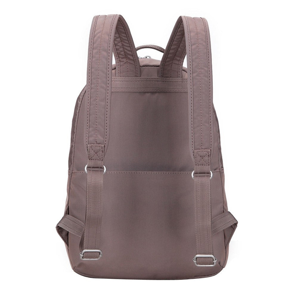 Backpack - Camilla Debossed Travel Backpack Back [Zinc Grey]