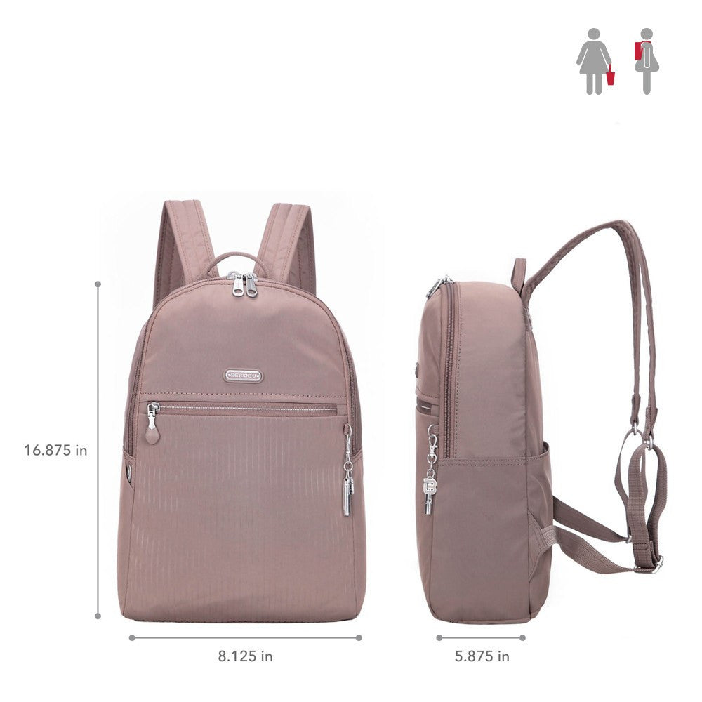 Backpack - Camilla Debossed Travel Backpack Size [Zinc Grey]