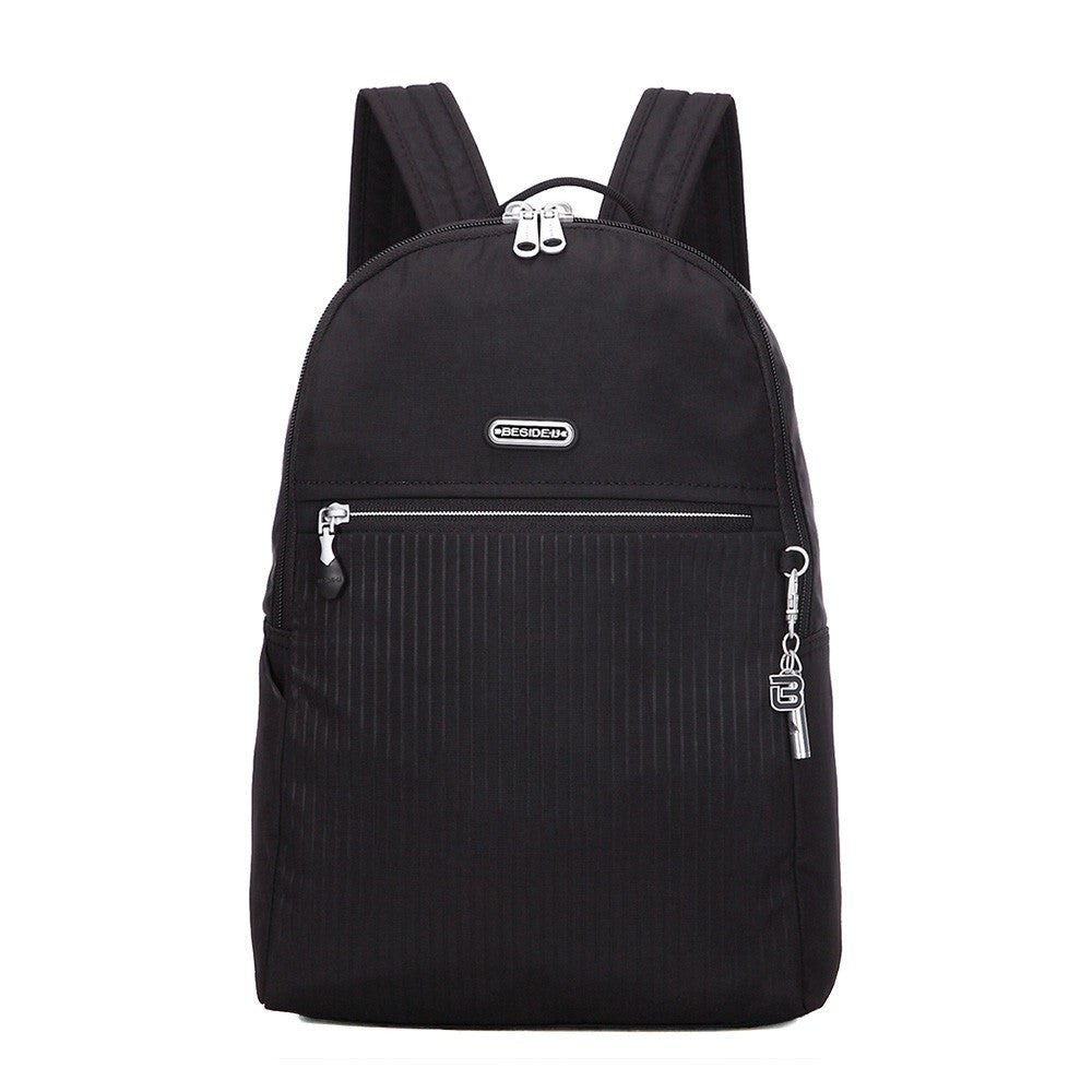 Backpack - Camilla Debossed Travel Backpack Front [Black]