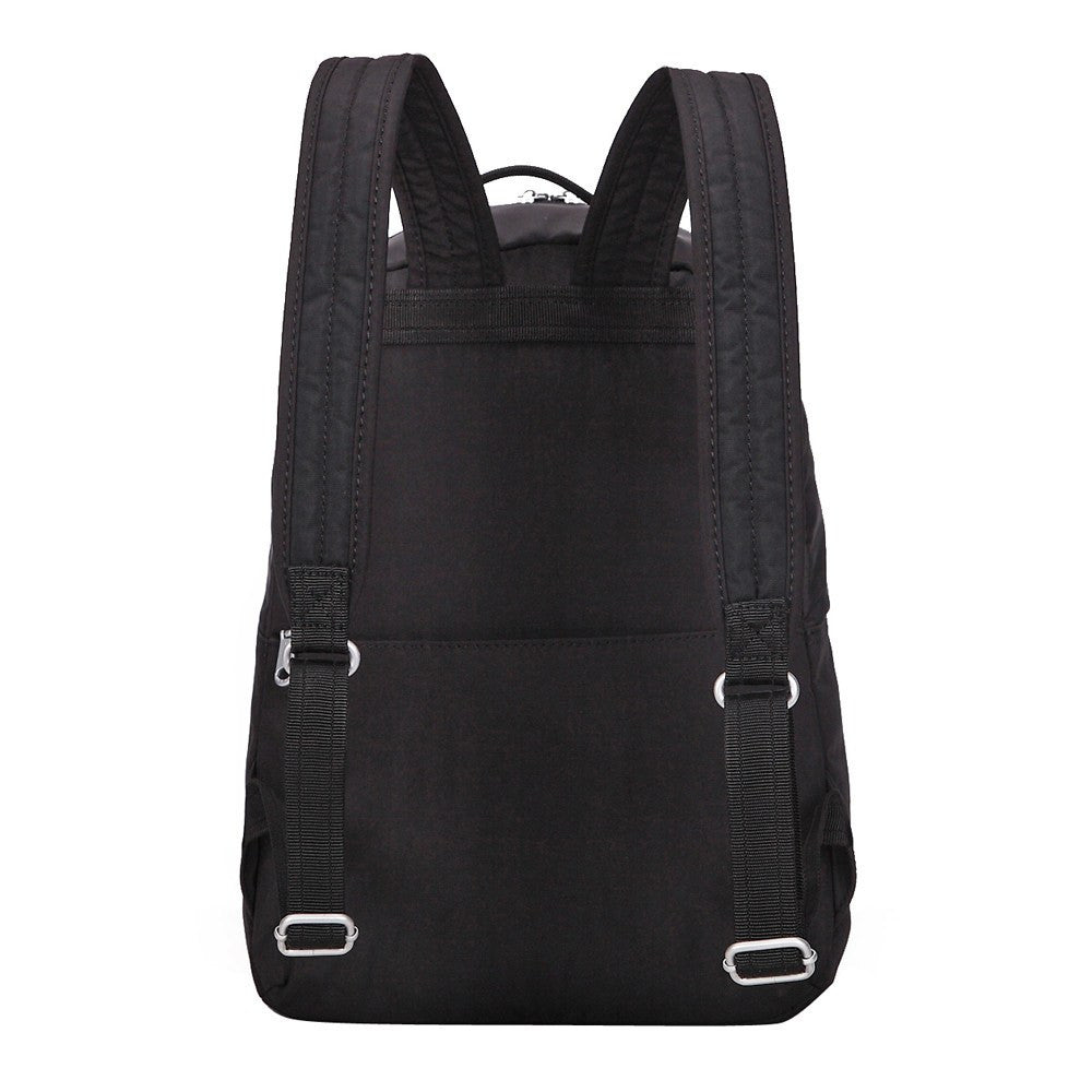 Backpack - Camilla Debossed Travel Backpack Back [Black]