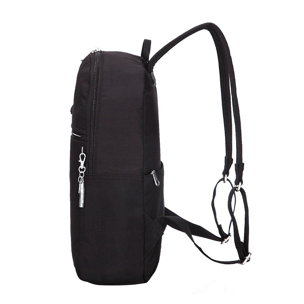 Backpack - Camilla Debossed Travel Backpack Side [Black]