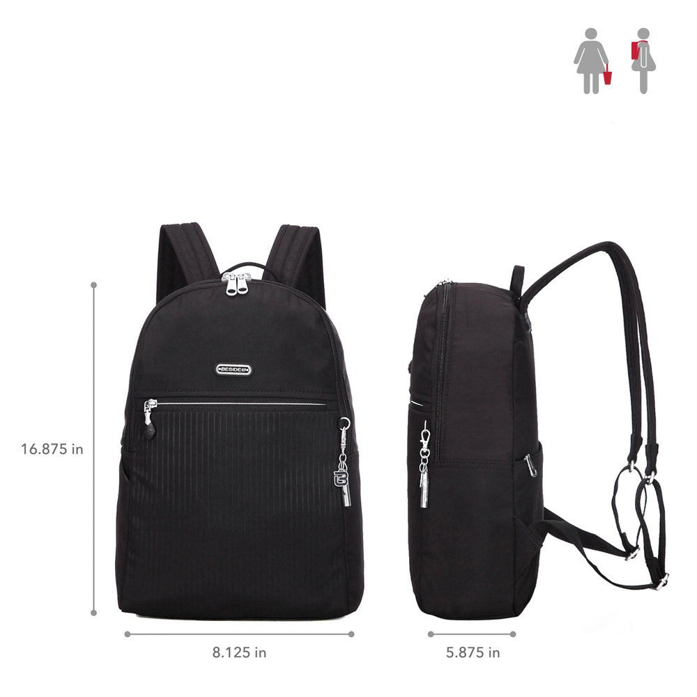 Backpack - Camilla Debossed Travel Backpack Size [Black]