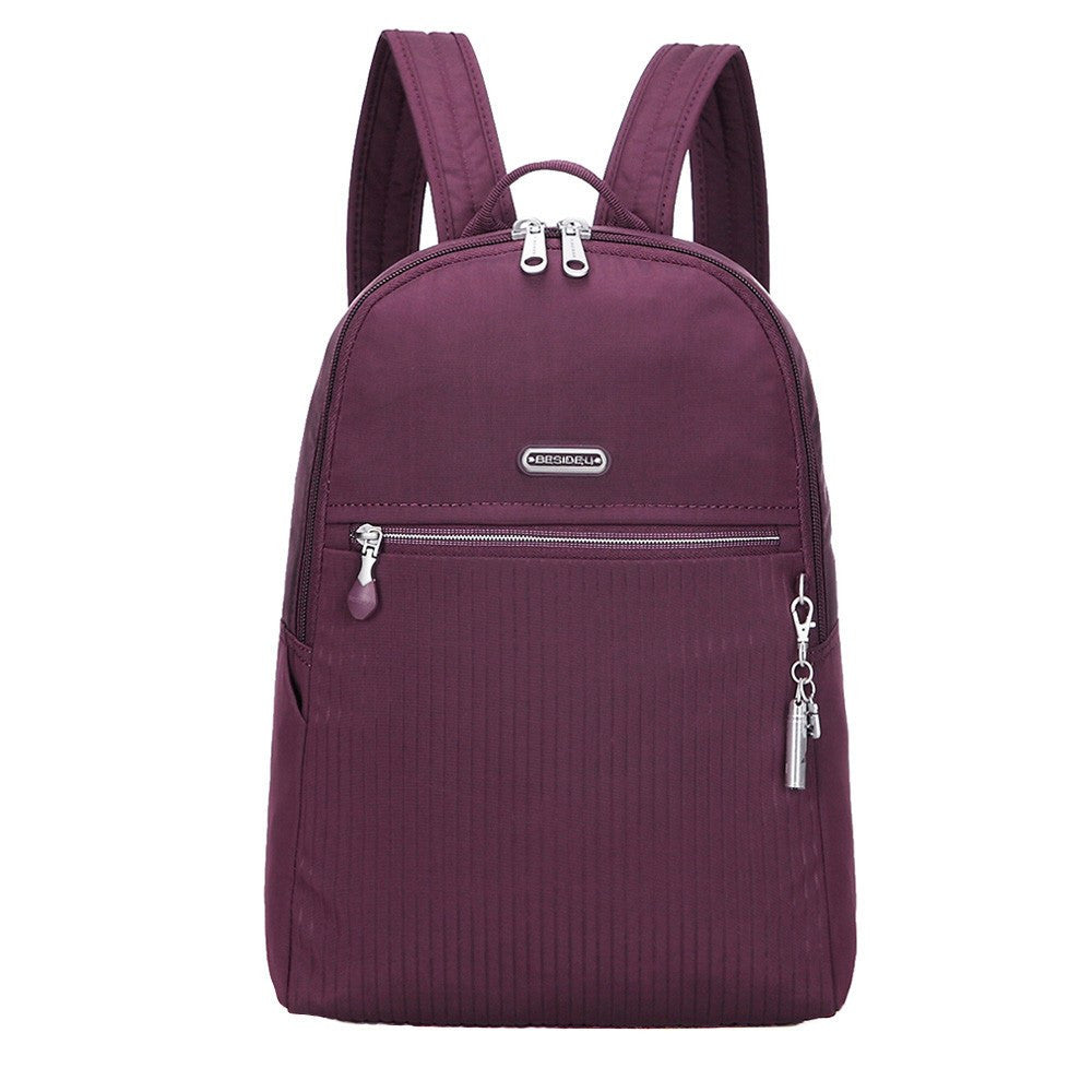 Backpack - Camilla Debossed Travel Backpack Front [Blackberry Wine]