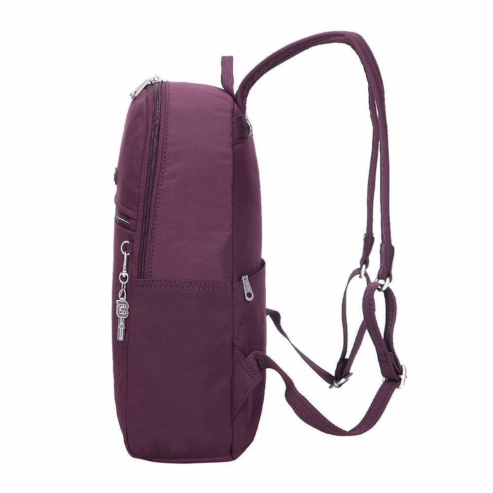 Backpack - Camilla Debossed Travel Backpack Side [Blackberry Wine]