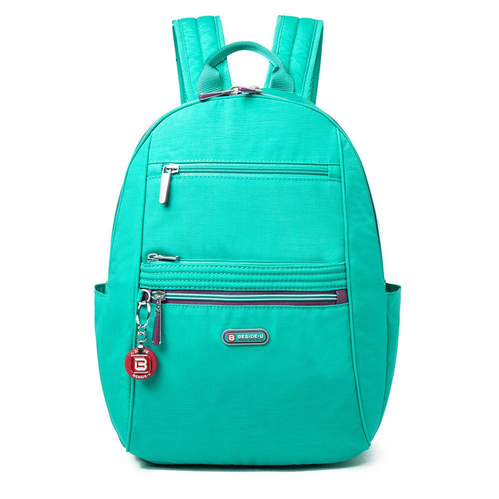 Backpack - Felix Two-Tone Compact Travel Backpack Front [Atlantis Teal Blue]