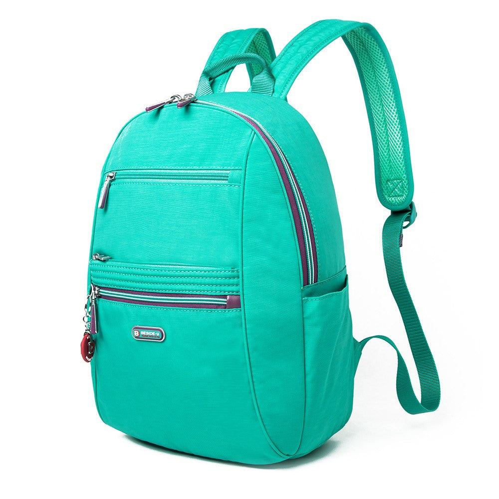 Backpack - Felix Two-Tone Compact Travel Backpack Angled [Atlantis Teal Blue]