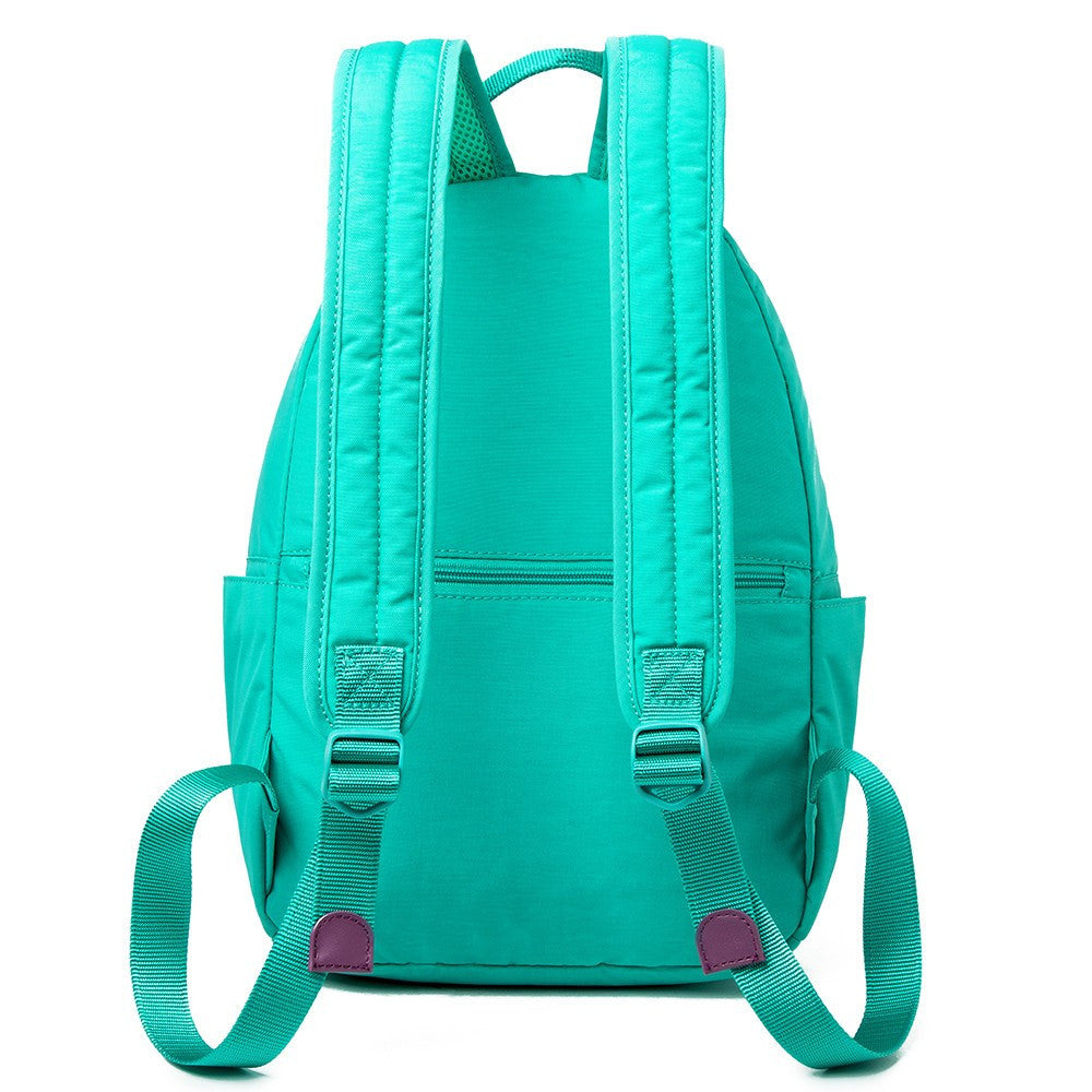 Backpack - Felix Two-Tone Compact Travel Backpack Back [Atlantis Teal Blue]