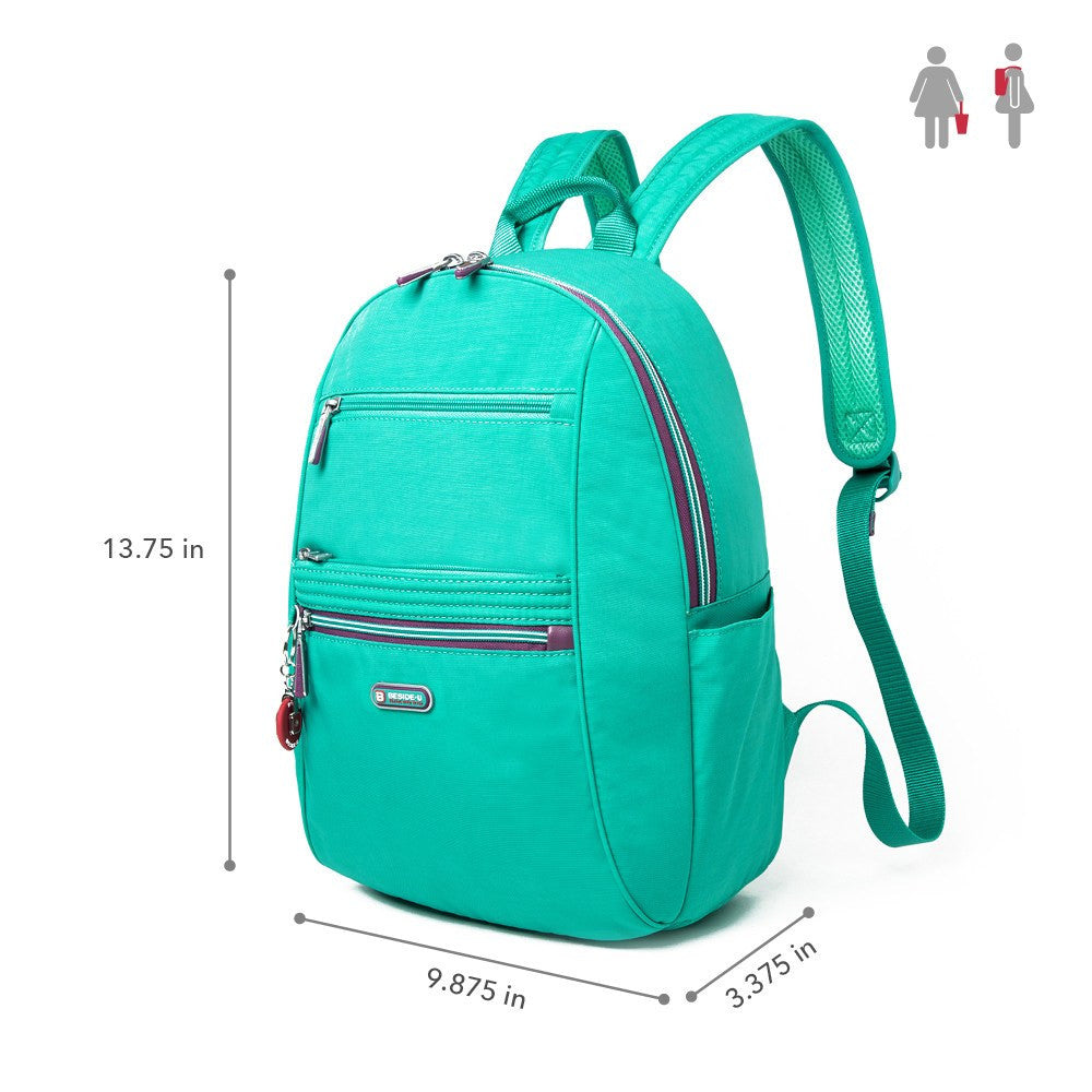 Backpack - Felix Two-Tone Compact Travel Backpack Size [Atlantis Teal Blue]