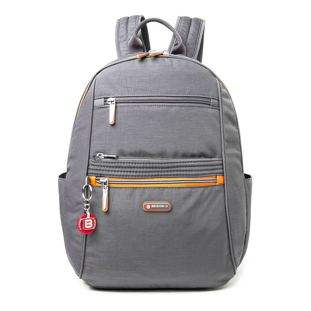 Backpack - Felix Two-Tone Compact Travel Backpack Front [Castlerock Grey]