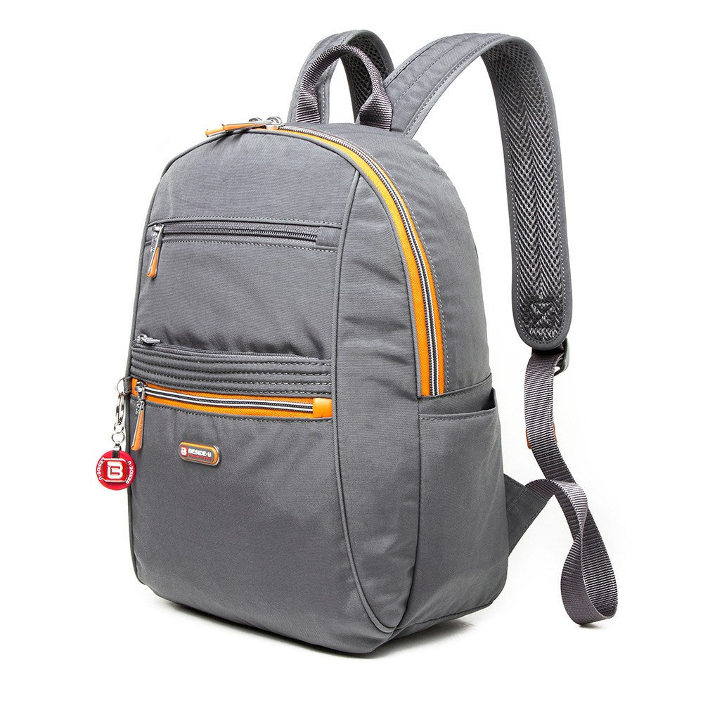 Backpack - Felix Two-Tone Compact Travel Backpack Angled [Castlerock Grey]