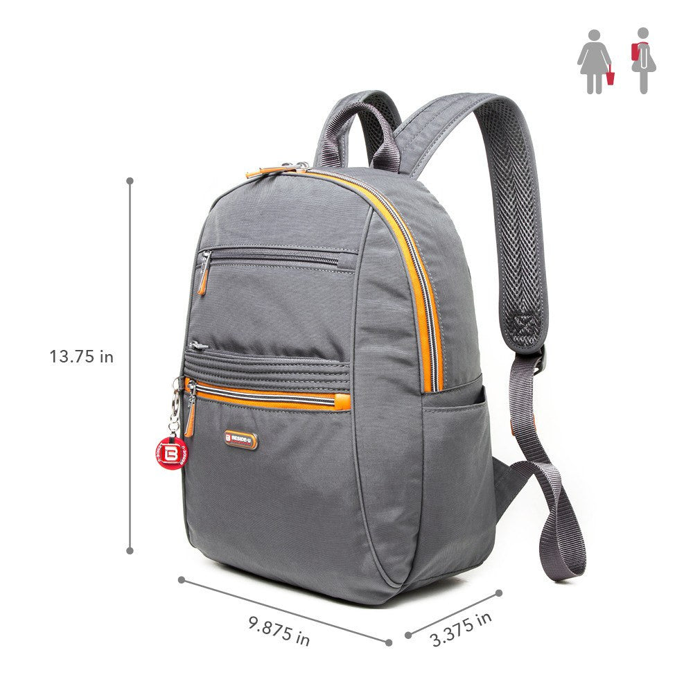 Backpack - Felix Two-Tone Compact Travel Backpack Size [Castlerock Grey]