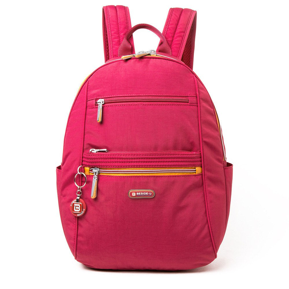 Backpack - Felix Two-Tone Compact Travel Backpack Front [Heart Red]