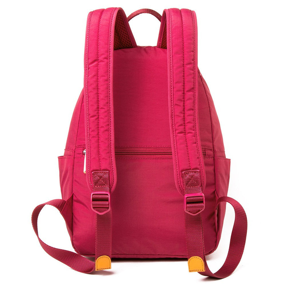 Backpack - Felix Two-Tone Compact Travel Backpack Back [Heart Red]