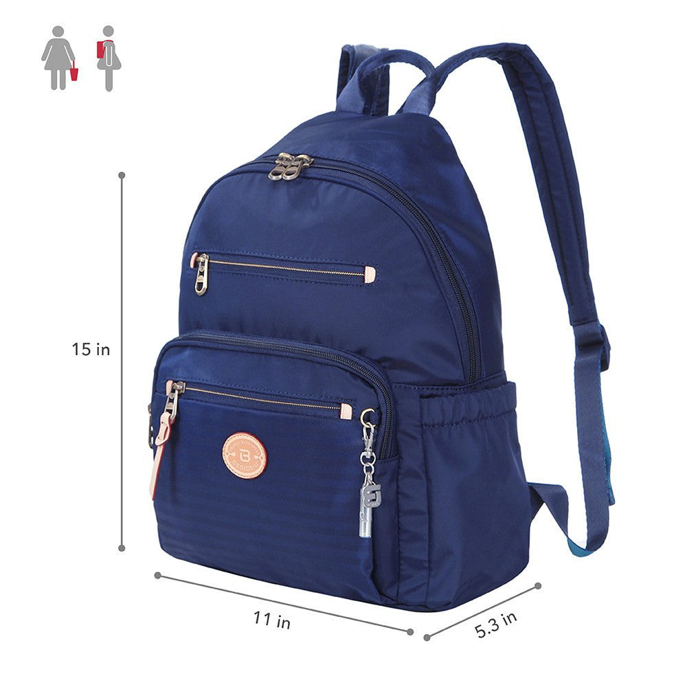 Backpack - Gosford Leather Trimmed Travel Backpack Size [Evening Blue]