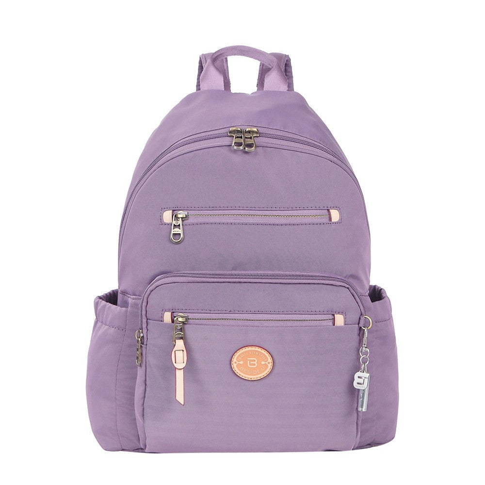 Backpack - Gosford Leather Trimmed Travel Backpack Front [Grapeade Purple]