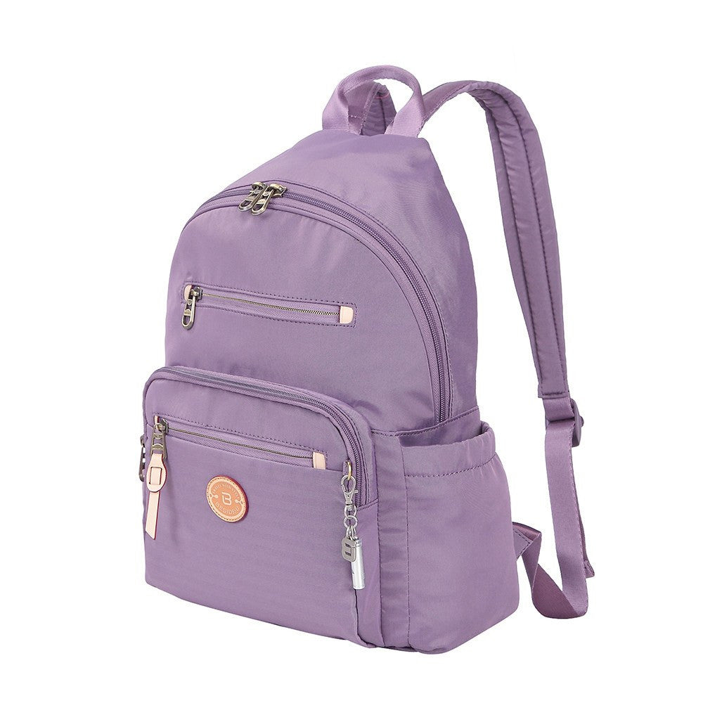 Backpack - Gosford Leather Trimmed Travel Backpack Angled [Grapeade Purple]