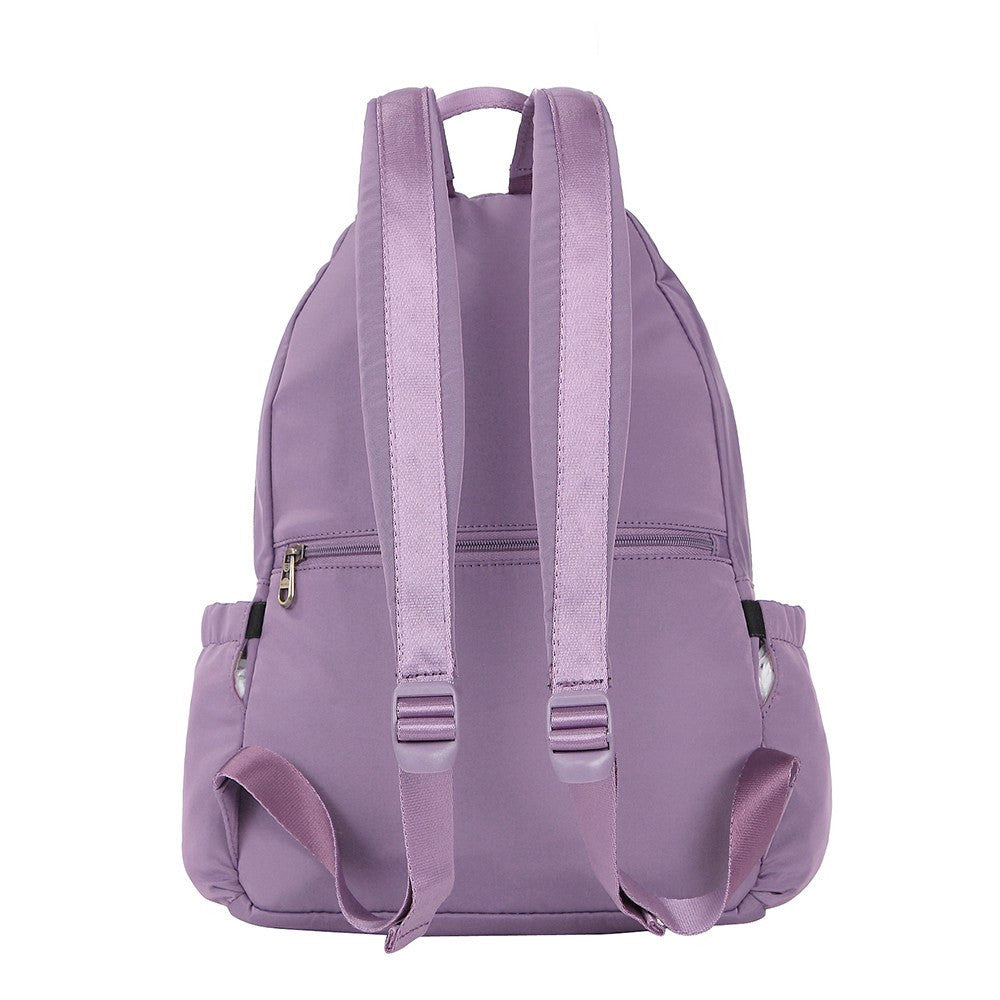 Backpack - Gosford Leather Trimmed Travel Backpack Back [Grapeade Purple]