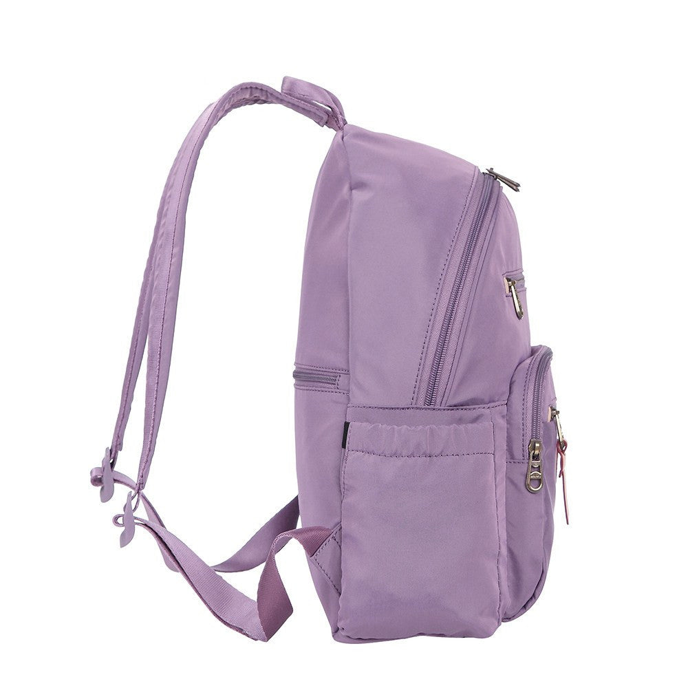 Backpack - Gosford Leather Trimmed Travel Backpack Side [Grapeade Purple]