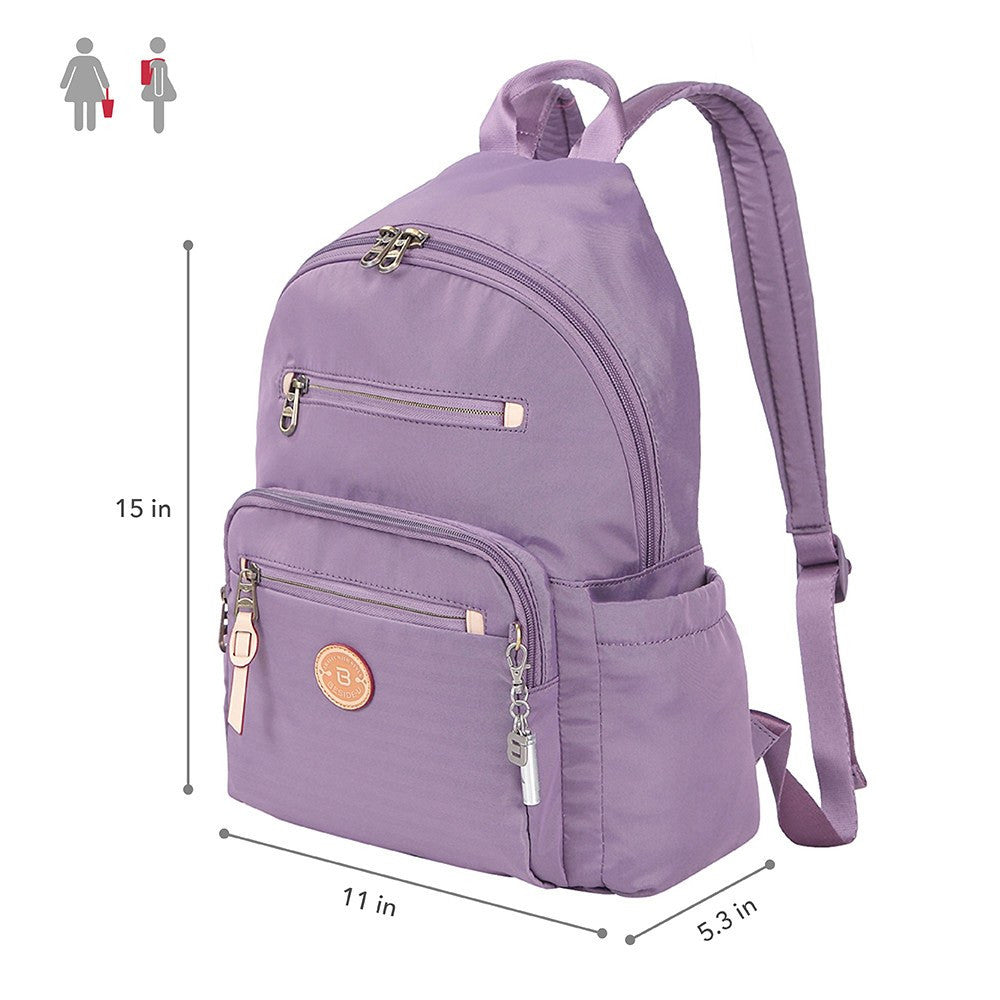 Backpack - Gosford Leather Trimmed Travel Backpack Size [Grapeade Purple]
