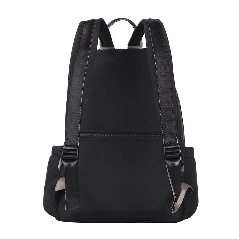 Backpack - Gosford Leather Trimmed Travel Backpack Back [Black]