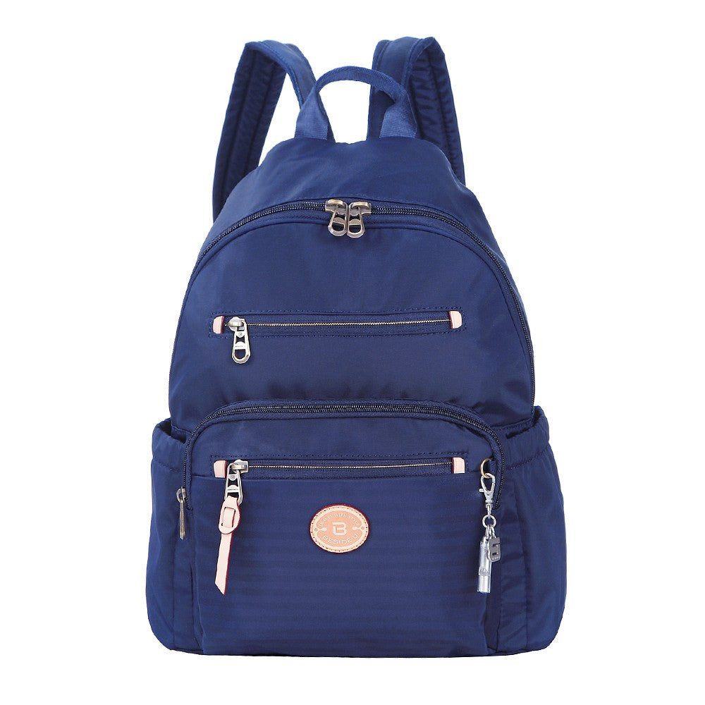 Backpack - Gosford Leather Trimmed Travel Backpack Front [Evening Blue]