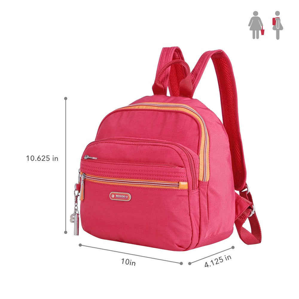 Backpack - Majorca Two-Tone Leisure Travel Backpack Size [Heart Red]