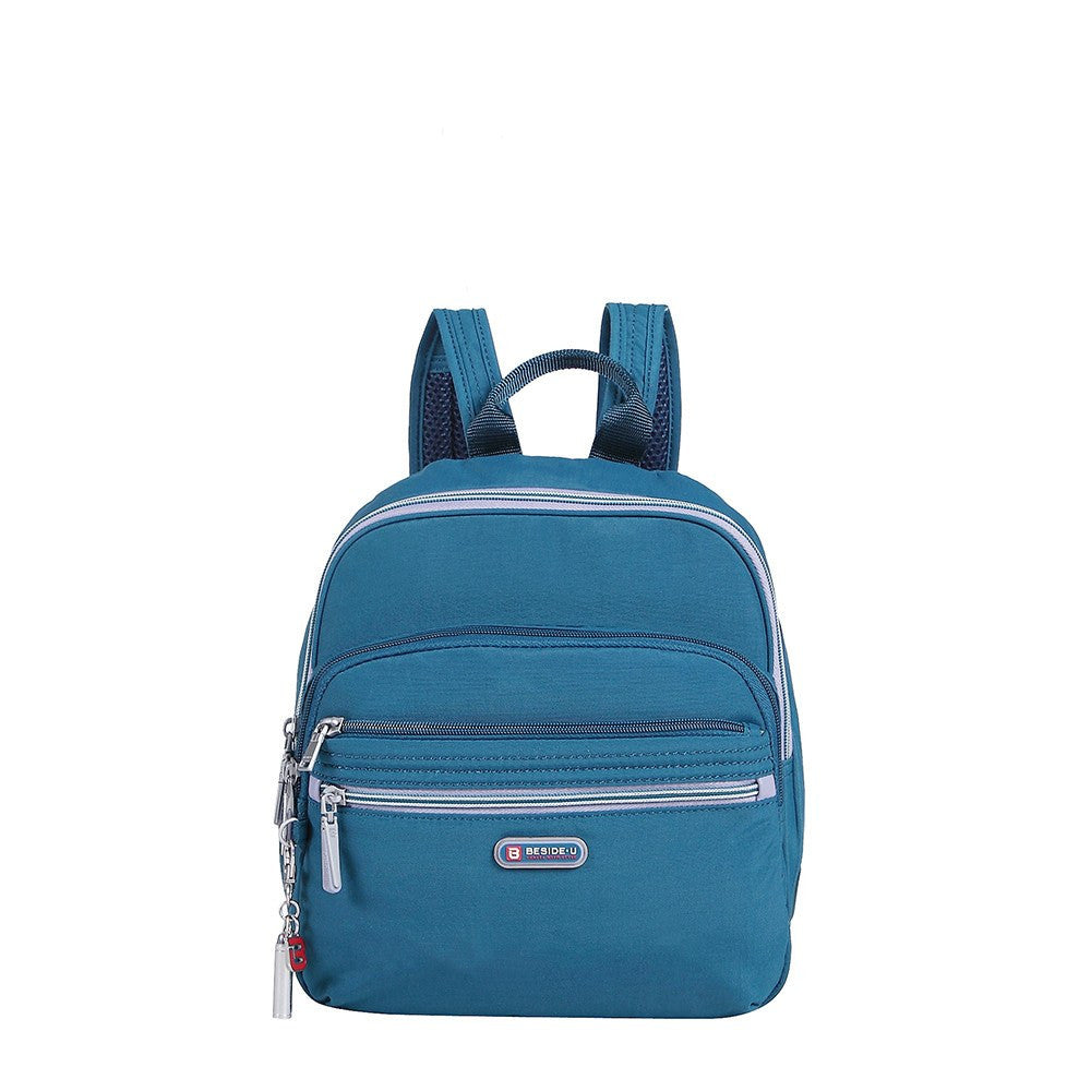 Backpack - Majorca Two-Tone Leisure Travel Backpack Front [Navy Blue]