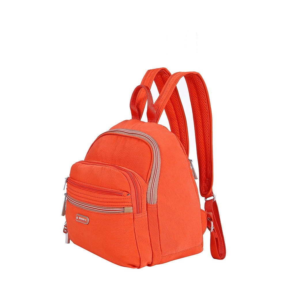 Backpack - Majorca Two-Tone Leisure Travel Backpack Angled [Sweet Orange]