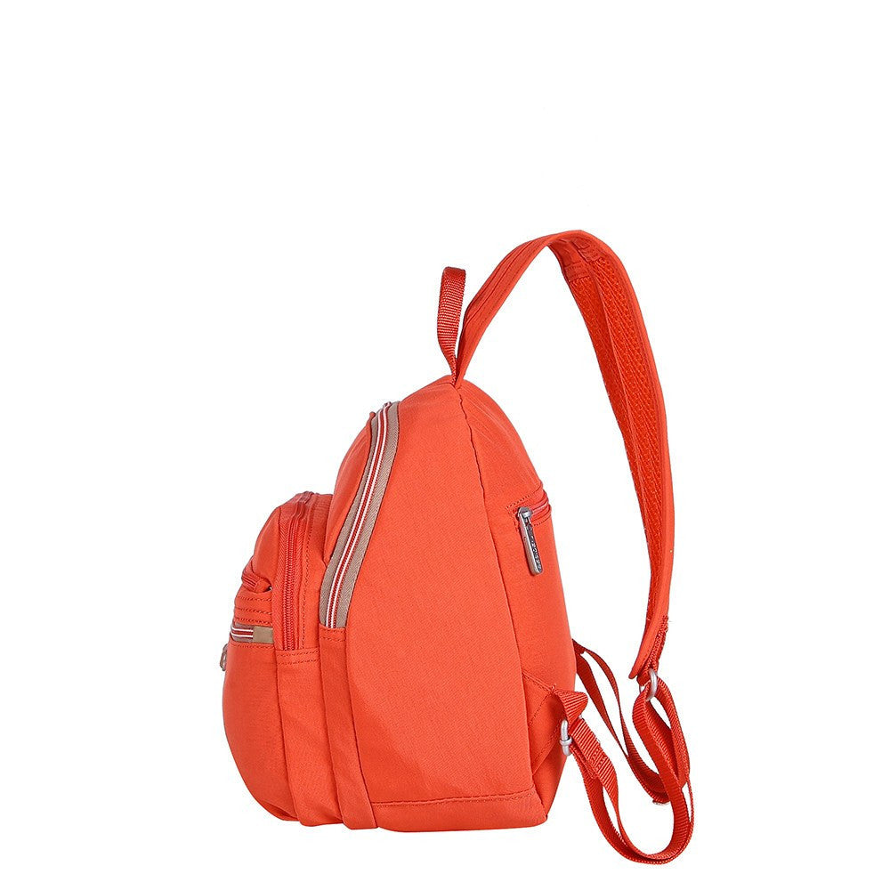 Backpack - Majorca Two-Tone Leisure Travel Backpack Side [Sweet Orange]