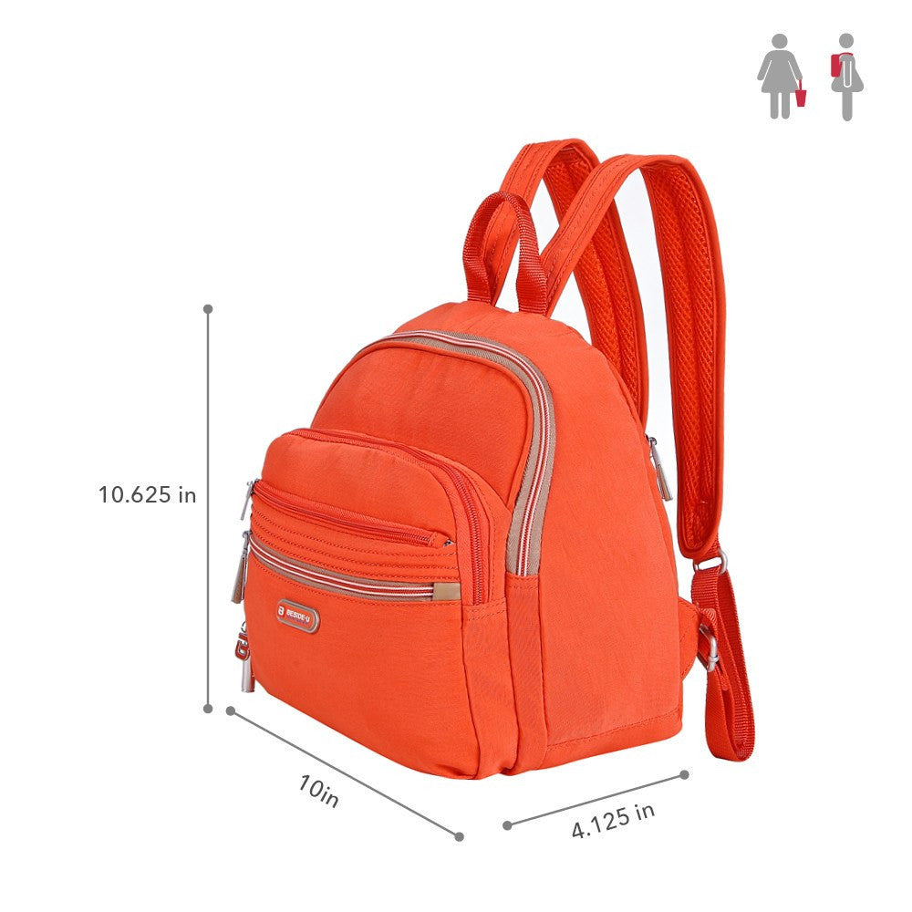 Backpack - Majorca Two-Tone Leisure Travel Backpack Size [Sweet Orange]