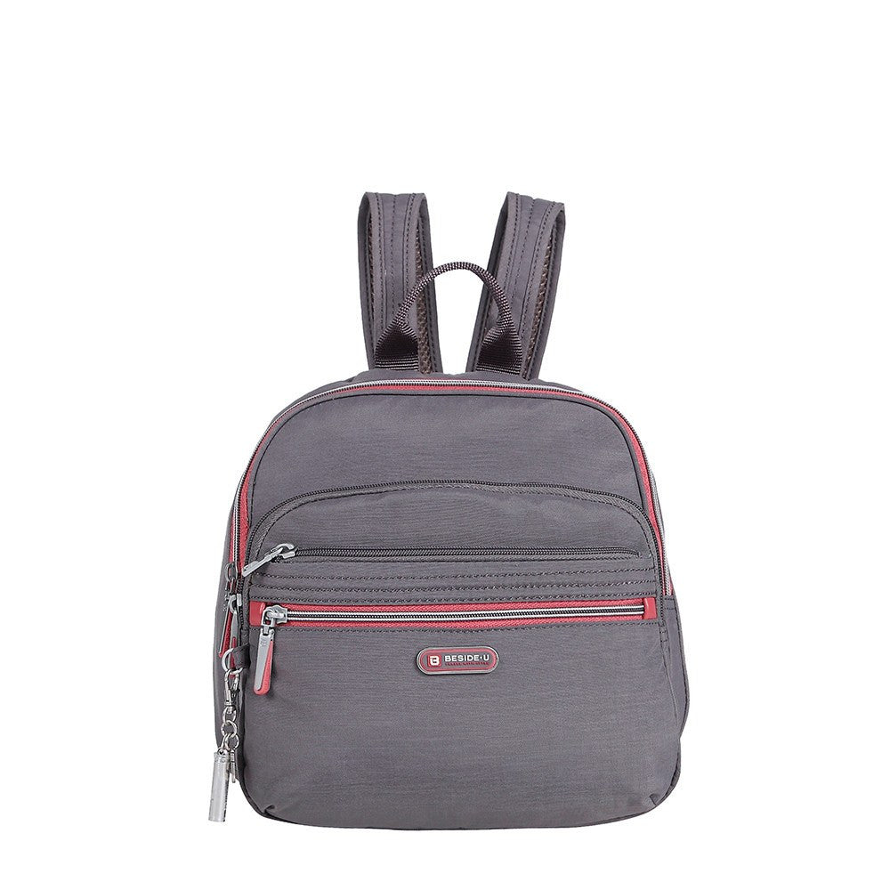 Backpack - Majorca Two-Tone Leisure Travel Backpack Front [Rabbit Grey]
