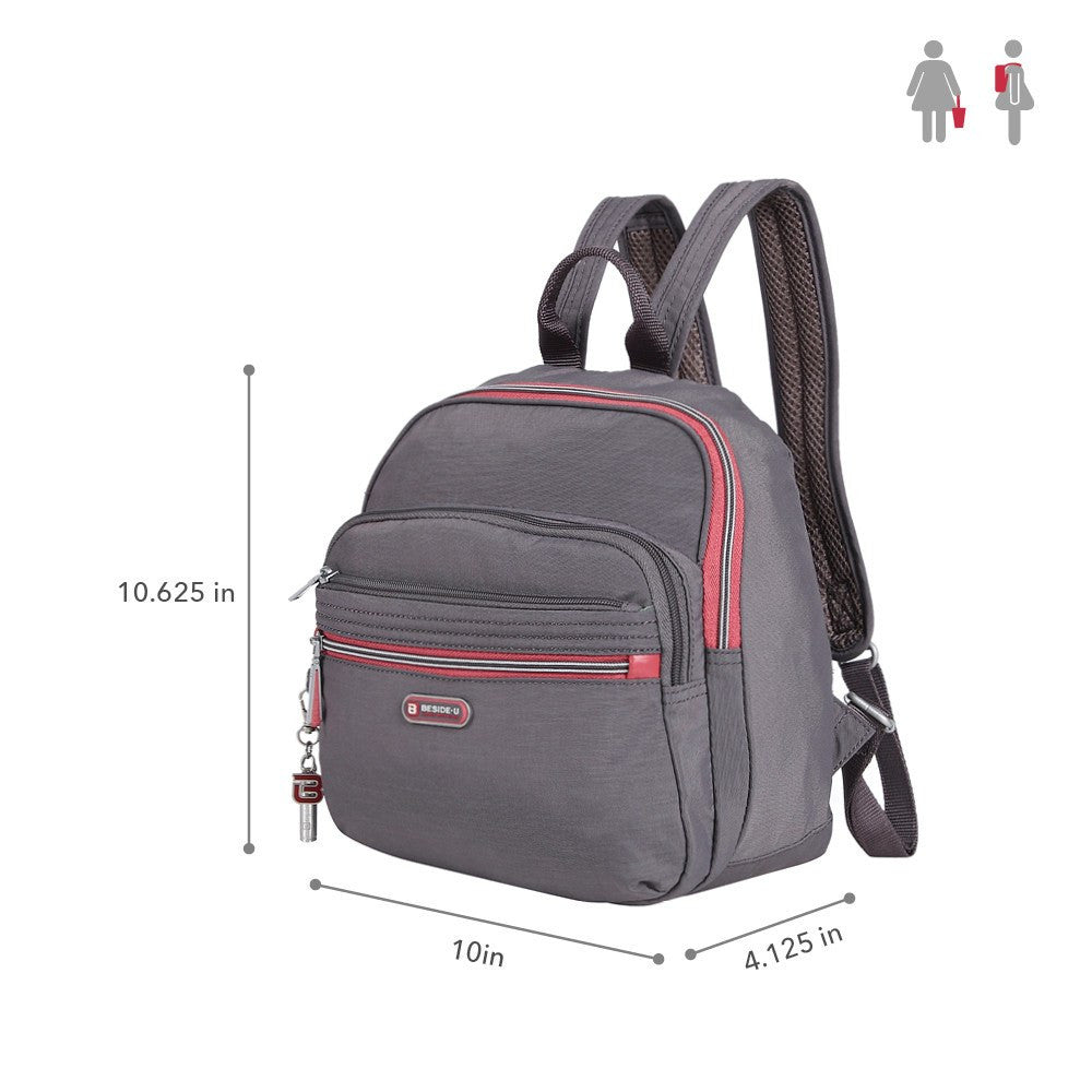 Backpack - Majorca Two-Tone Leisure Travel Backpack Size [Rabbit Grey]