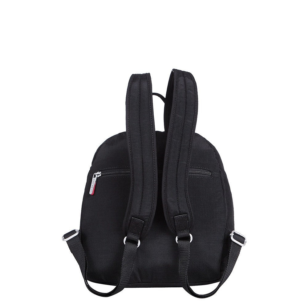 Backpack - Majorca Two-Tone Leisure Travel Backpack Back [Black And Dark Red]