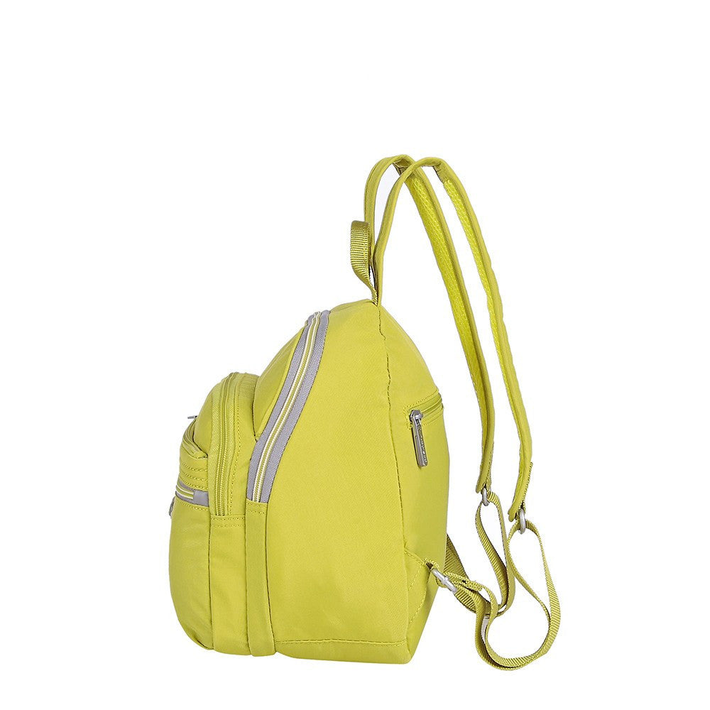 Backpack - Majorca Two-Tone Leisure Travel Backpack Side [Citronelle Green]
