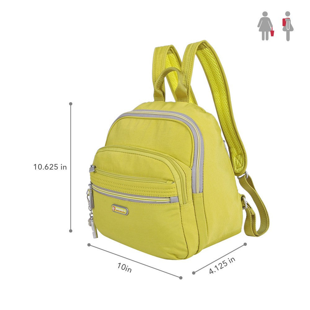 Backpack - Majorca Two-Tone Leisure Travel Backpack Size [Citronelle Green]